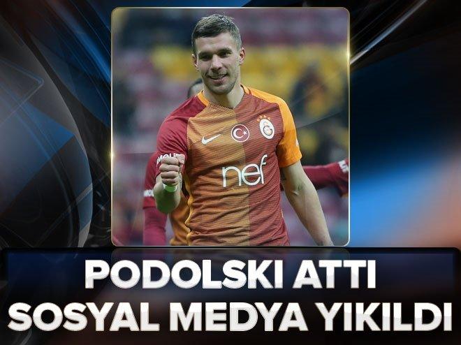Podolski 5 gol attı, sosyal medya yıkıldı