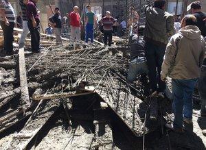 Samsun'da cami inşaatında göçük
