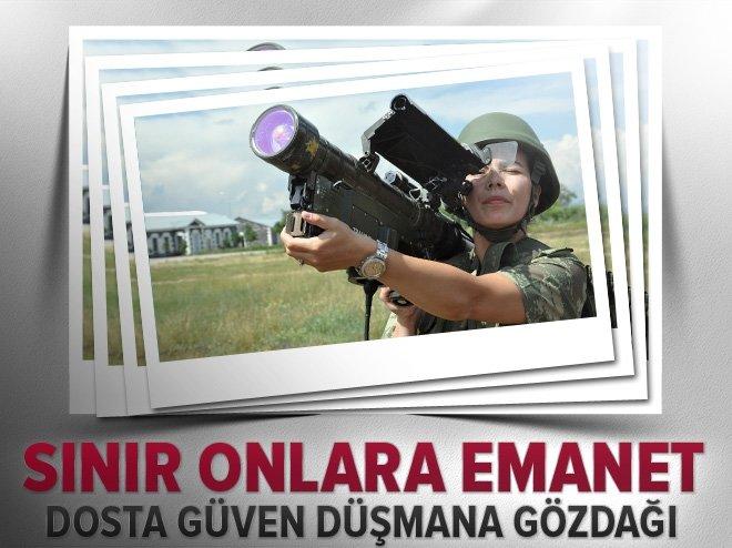 Sınırda kadın askerler dosta güven, düşmana gözdağı veriyor