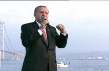 Cumhurbaşkanı Erdoğan Osmangazi Köprüsü'nün açılışında konuştu