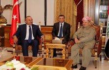 Çavuşoğlu Barzani ile görüştü!