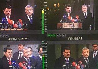 Vali Şahin'in açıklamasını dünya televizyonları canlı verdi
