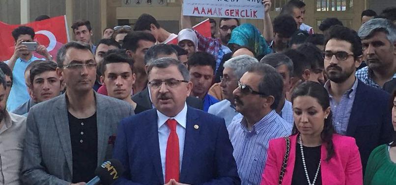 ALMANYA'NIN ANKARA BÜYÜKELÇİLİĞİ ÖNÜNDE PROTESTO