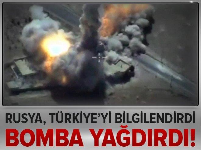 Rusya, Türkiye'yi bilgilendirdi sonra vurdu!