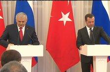 Başbakan Yıldırım ile Medvedev'den ortak açıklama