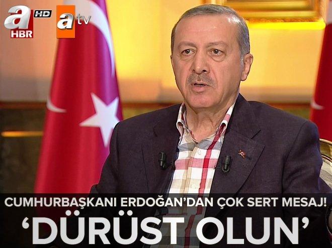 Cumhurbaşkanı Erdoğan Atv - A Haber ortak yayınında çok önemli açıklamalarda bulundu