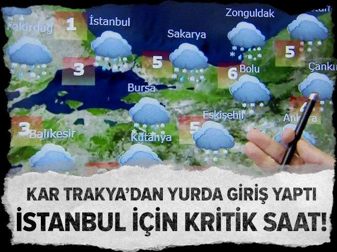 İstanbul için alarm verildi! Kar geliyor