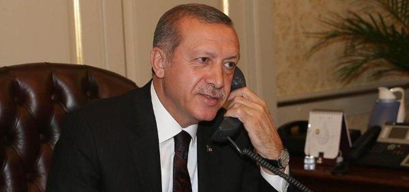 ERDOĞAN'DAN MEVKİDAŞINA TEBRİK TELEFONU