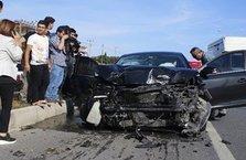 Konvoy geçişi sırasında kaza!
