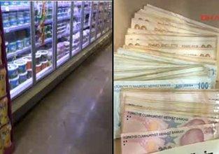 Süpermarkette 13 bin TL'yi kaybeden müşteri aranıyor