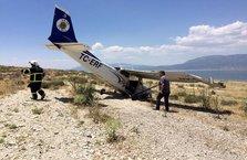 Burdur'da uçak düştü!