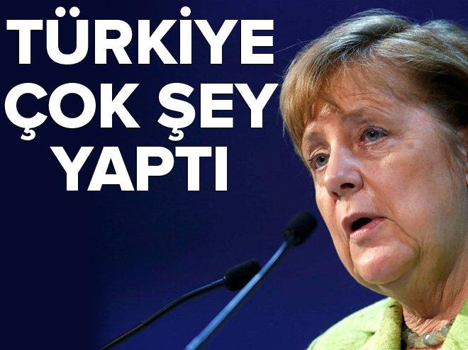 Merkel: Türkiye, sığınmacılar için çok şey yaptı