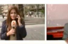 Suriyeli muhabir canlı yayında yalan söylerken yakalandı