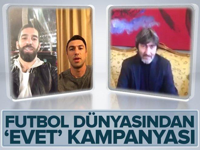 """Futbol dünyasından """"Güçlü bir Türkiye için EVET"""" kampanyası"""