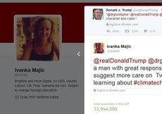 """Trump Twitter'da """"Ivanka""""ları karıştırdı"""