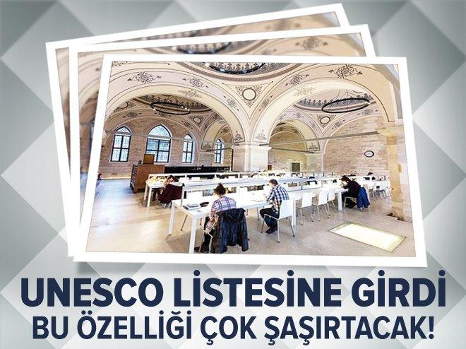 UNESCO listesine giren Türk kütüphanesi