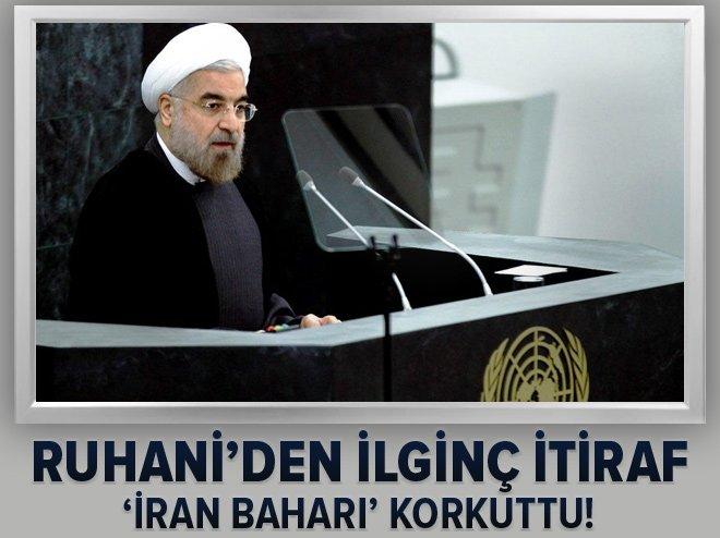 'İran baharı' Ruhani'yi korkuttu! Açıklama yaptı