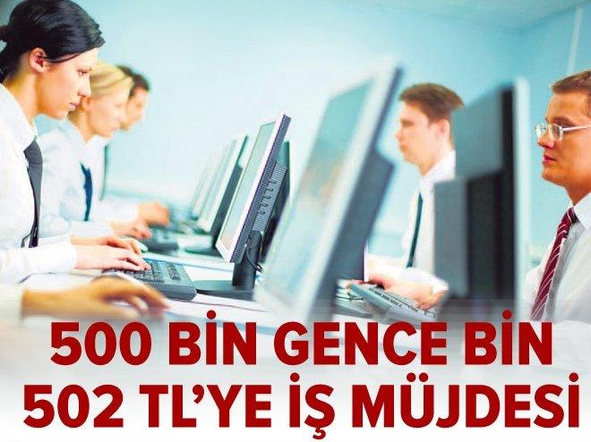 500 bin gence bin 502 TL'ye iş müjdesi