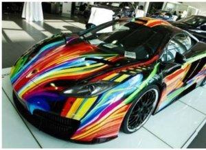 Pahalı otomobillere sıra dışı boya!