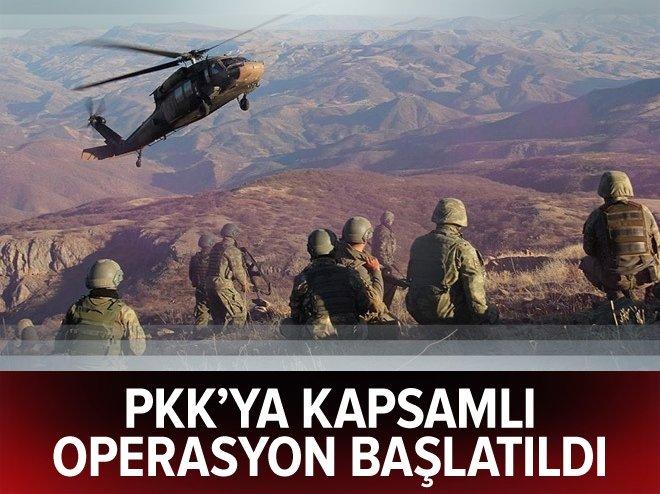 PKK'ya geniş kapsamlı operasyon başlatıldı