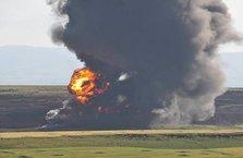 Petrol sahasında patlama