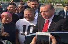 Erdoğan onlar için makam aracını durdu