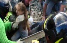 İtalya'daki depremden mucize kurtuluş