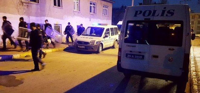 ERZURUM'DA ONLARCA POLİS SABAHA KADAR NÖBET TUTTU