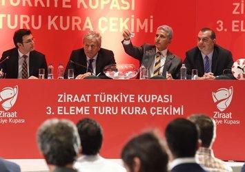 Türkiye Kupası'nda 3. tur eşleşmeler belli oldu