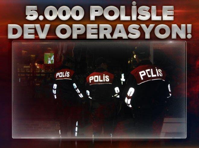 Türkiyeçapında 'huzur' operasyonu
