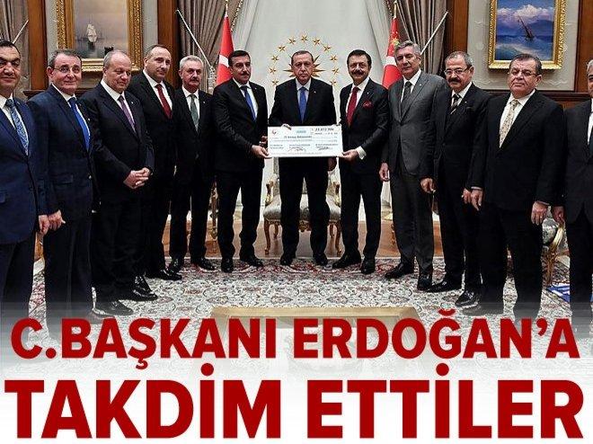 Cumhurbaşkanı Erdoğan, Bülent Tüfenkci ve Rifat Hisarcıklıoğlu'nu kabul etti