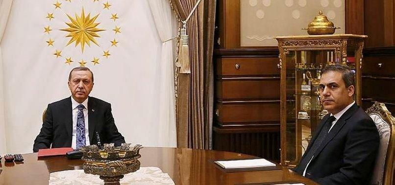 ERDOĞAN, MİT MÜSTEŞARI FİDAN'I KABUL ETTİ