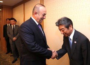 Dışişleri Bakanı Mevlüt Çavuşoğlu'nu böyle karşıladılar