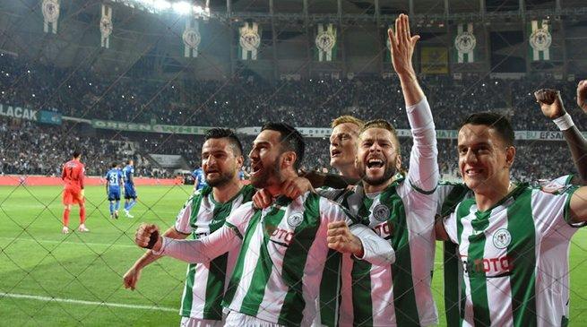 Ziraat Türkiye Kupası'nda ilk finalist Konyaspor