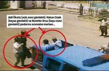 İşte Öksüz'ün gözaltı görüntüsü