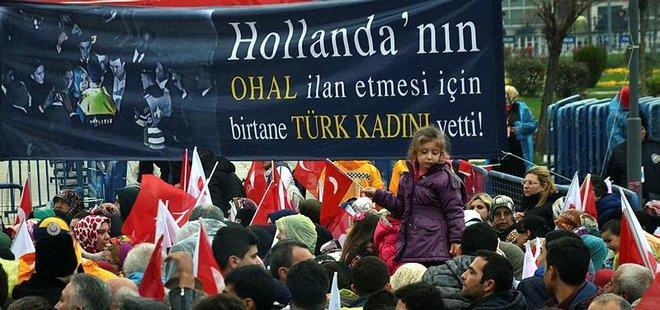 'HOLLANDA'DA OHAL İÇİN BİR TÜRK KADINI YETTİ!'