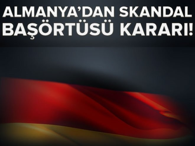 Almanya'da stajyer hakime başörtüsü yasağı