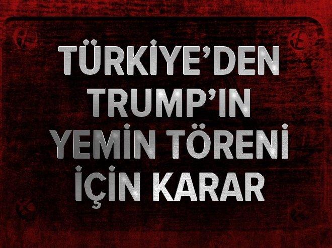 Bakan Çavuşoğlu, Trump'ın yemin törenine katılacak