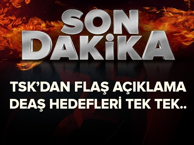 TSK: 3 DEAŞ hedefine 4 bomba atıldı
