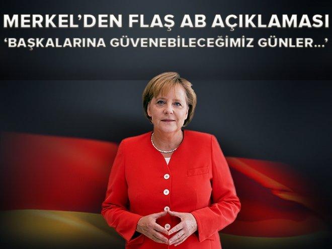 Merkel'den AB'nin geleceğine dair açıklama width=