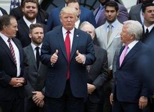 NFL şampiyonu Patriots, Beyaz Saray'ı ziyaret etti