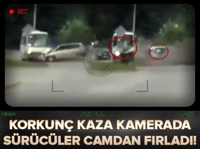 Korkunç kaza! Sürücüler camdan fırladı