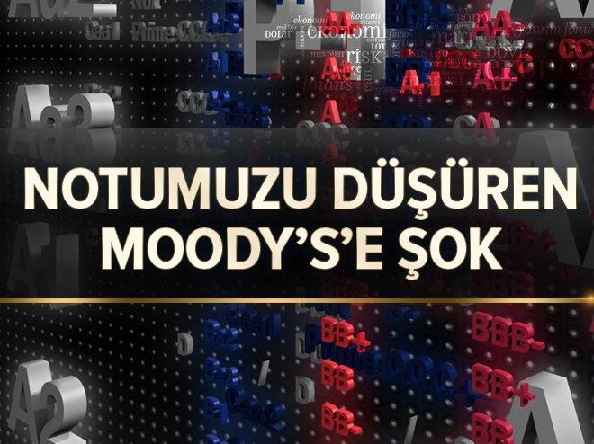 Türkiye'nin notunu düşüren Moody's'e şok!