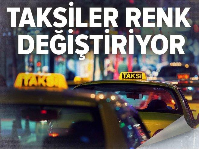 İstanbul'da lüks taksiler turkuaz renkte olacak