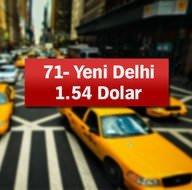 En ucuz ve en pahalı taksi ücreti nerede?