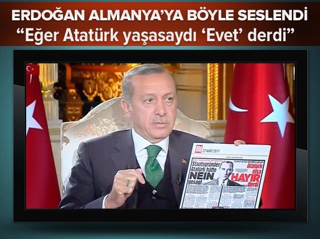 """""""Atatürk yaşasaydı Evet derdi"""""""