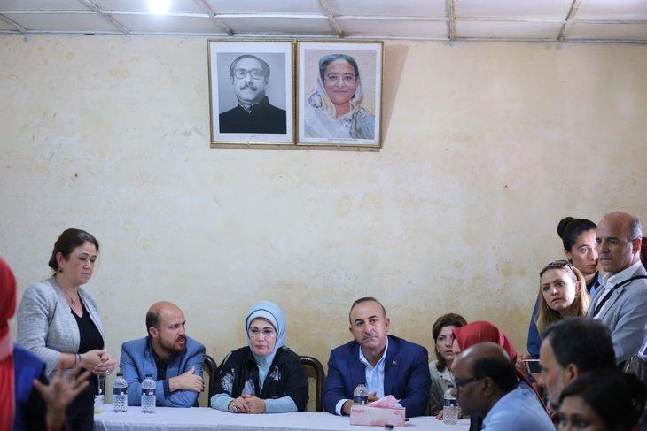 Emine Erdoğan ve Türk heyeti Bangladeş'te Arakanlı Müslümanlara yardım elini uzattı