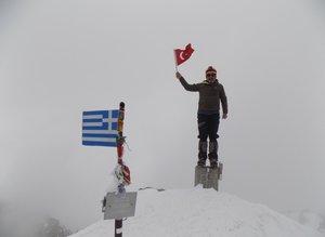 """Bursalı dağcılar """"Yunanistan'ın zirvesi""""ne tırmandı"""