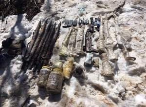 Tunceli'de teröristlere ait makineli tüfek ve patlayıcılar ele geçirildi