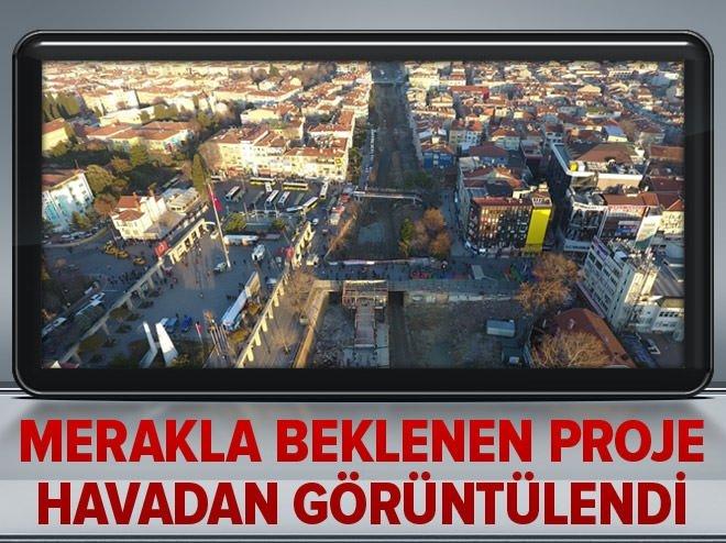 İstanbulluların merakla beklediği proje havadan görüntülendi